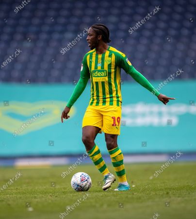Ewood Park, Blackburn, Lancashire, England; Romaine Sawyers of West Bromwich Albion on the ball; English Football League Championship Football, Blackburn Rovers versus West Bromwich Albion.