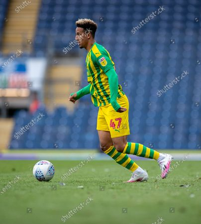Ewood Park, Blackburn, Lancashire, England; Callum Robinson of West Bromwich Albion on the ball; English Football League Championship Football, Blackburn Rovers versus West Bromwich Albion.