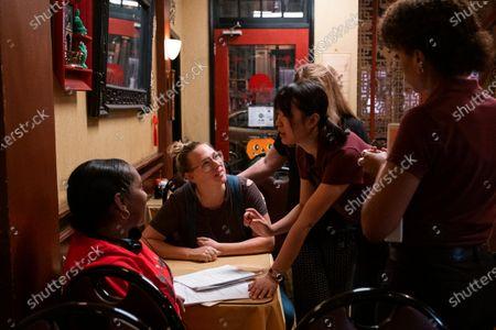 Stock Photo of Liz Tigelaar Writer, Lu Huang as Bebe Chow and Kerry Washington as Mia Warren
