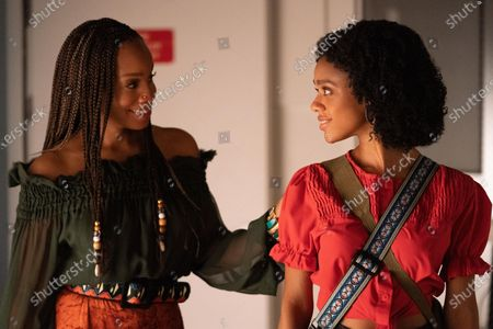Anika Noni Rose as Pauline Hawthorne and Tiffany Boone as Young Mia