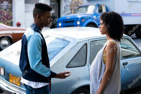 Stock Photo of Aubrey Joseph as Warren Wright and Tiffany Boone as Young Mia
