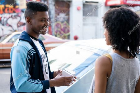 Aubrey Joseph as Warren Wright and Tiffany Boone as Young Mia