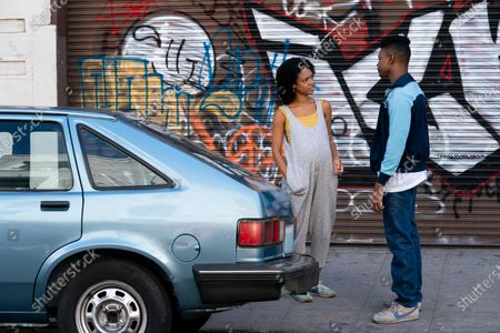 Stock Picture of Tiffany Boone as Young Mia and Aubrey Joseph as Warren Wright and