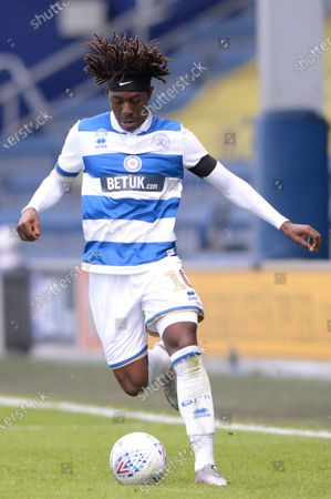 Eberechi Eze of Queens Park Rangers in action during Sky Bet League Championship match between Queens Park Rangers and Sheffield Wednesday at The Kiyan Prince Foundation Stadium in London, UK - 11th July 2020
