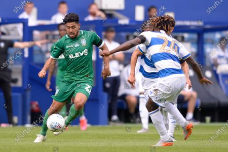Massimo Luongo of Sheffield Wednesday in action during Sky Bet League Championship match between Queens Park Rangers and Sheffield Wednesday at The Kiyan Prince Foundation Stadium in London, UK - 11th July 2020