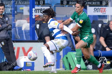 Eberechi Eze of Queens Park Rangers and  Joey Pelupessy of Sheffield Wednesday in action during Sky Bet League Championship match between Queens Park Rangers and Sheffield Wednesday at The Kiyan Prince Foundation Stadium in London, UK - 11th July 2020