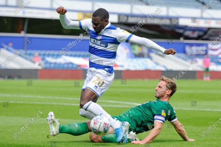 Bright Osayi-Samuel of Queens Park Rangers and Tom Lees of Sheffield Wednesday in action during Sky Bet League Championship match between Queens Park Rangers and Sheffield Wednesday at The Kiyan Prince Foundation Stadium in London, UK - 11th July 2020