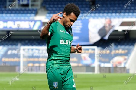 Jacob Murphy of Sheffield Wednesday celebrates scoring his sides third goal during Sky Bet League Championship match between Queens Park Rangers and Sheffield Wednesday at The Kiyan Prince Foundation Stadium in London, UK - 11th July 2020