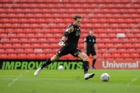 Goalkeeper  Jack Walton (13) of Barnsley FC in action.