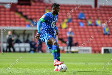 Nathan Byrne (2) of Wigan Athletic with the ball