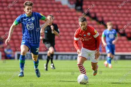 Conor Chaplin (11) of Barnsley FC in action