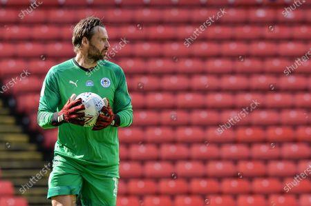 David Marshall (1) of Wigan Athletic