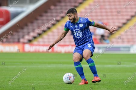 Sam Morsy (5) of Wigan Athletic with the ball