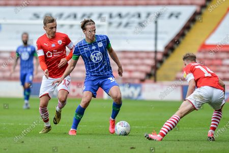 Kieran Dowell (30) of Wigan Athletic with the ball