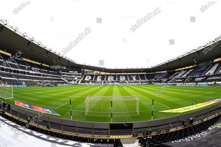 General view of Pride Park, home to Derby County