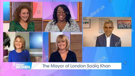 Nadia Sawalha, Judi Love, Kaye Adams, Jane Moore and Sadiq Khan