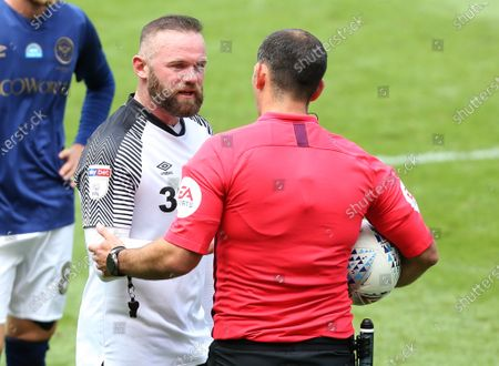 Derby County's Wayne Rooney gets frustrated with refereeTim Robinson