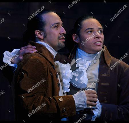 Stock Photo of Lin-Manuel Miranda as Alexander Hamilton and Anthony Ramos as John Laurens/Philip Hamilton