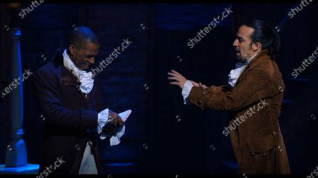 Leslie Odom Jr as Aaron Burr and Lin-Manuel Miranda as Alexander Hamilton