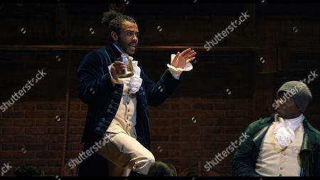Daveed Diggs as Marquis de Lafayette/Thomas Jefferson and Okieriete Onaodowan as Hercules Mulligan/James Madison