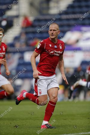 Deepdale Stadium, Preston, Lancashire, England; Ben Watson of Nottingham Forest Strictly; English Championship Football, Preston North End versus Nottingham Forest.