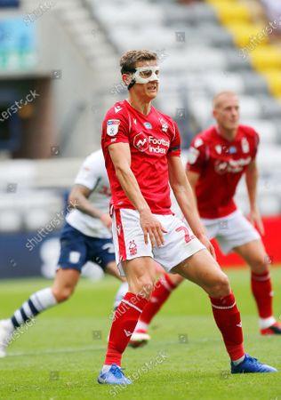 Deepdale Stadium, Preston, Lancashire, England; Ryan Yates of Nottingham Forest; English Championship Football, Preston North End versus Nottingham Forest.