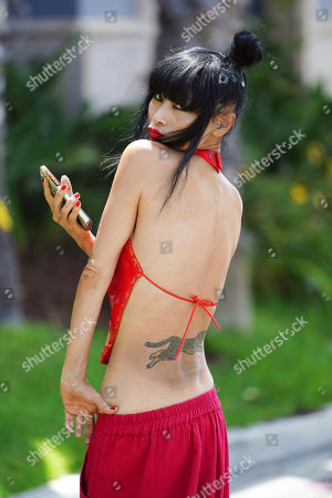 Image éditoriale de Bai Ling out and about, Los Angeles, USA - 09 Jul 2020