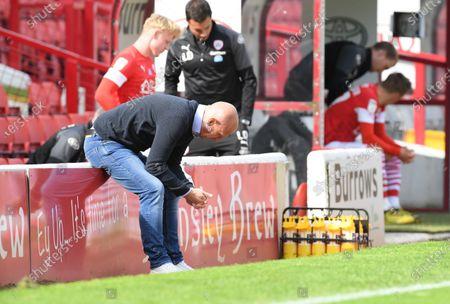 Barnsley boss Gerhard Struber at full time.