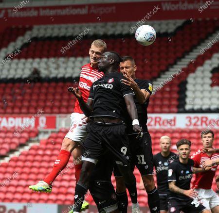 Photo éditoriale de Middlesbrough v Bristol City, Sky Bet Championship, Football, Riverside Stadium, Middlesbrough, UK - 11 Jul 2020