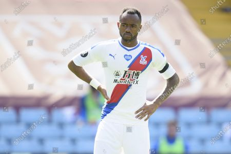 Jordan Ayew of Crystal Palace shows a look of dejection during the game.