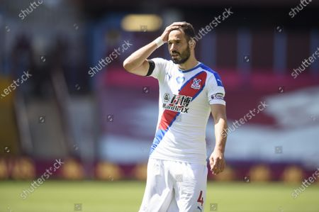 Luka Milivojevic of Crystal Palace shows a look of dejection during the game.