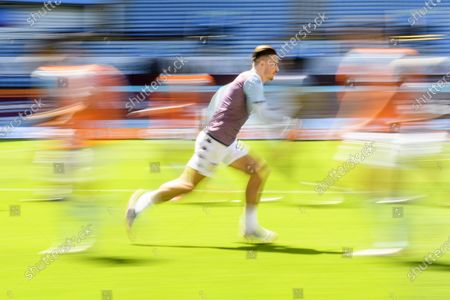 Jack Grealish of Aston Villa warms up.