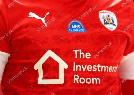 The NHS logo on the Barnsley shirt