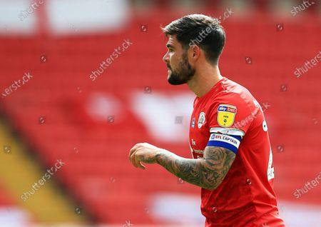 Alex Mowatt of Barnsley wearing the EFL captains armband