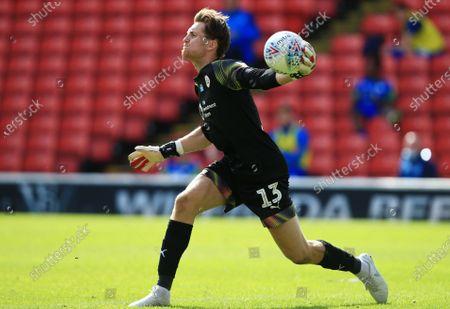 Image libre de droits de Barnsley goalkeeper Jack Walton
