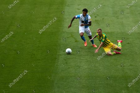 Dominic Samuel of Blackburn Rovers and West Brom's Kamil Grosicki