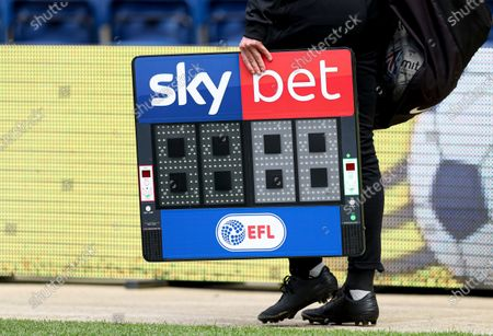 The Sky Bet substitutes board