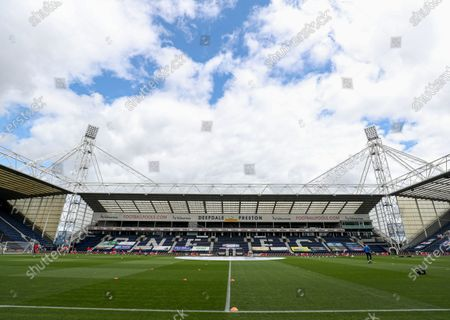 General view of Deepdale before the start of the match