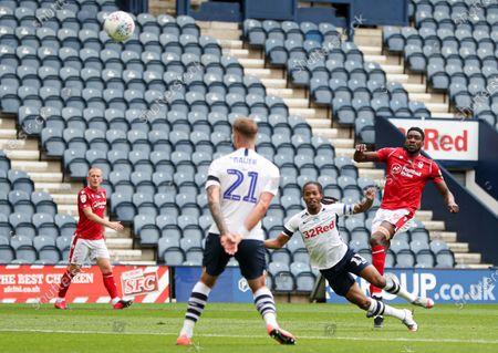 Sammy Ameobi of Nottingham Forest shoots at goal