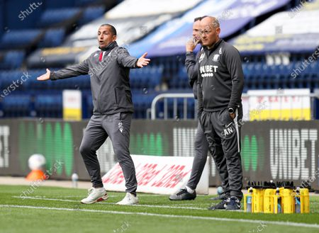 Nottingham Forest manager Sabri Lamouchi appeals during the game