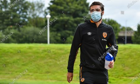 Jon Toral of Hull City arrives for the game