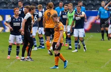 Keane Lewis-Potter of Hull City looks dejected at the end of the game