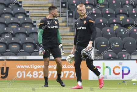 Goalkeeper George Long of Hull City prepares for his 50th appearance
