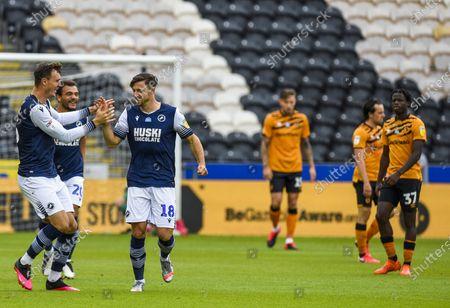 Ryan Leonard of Millwall celebrates scoring the opening goal 0-1