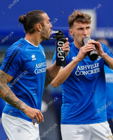 Geoff Cameron of QPR drinks from an IPRO water bottle