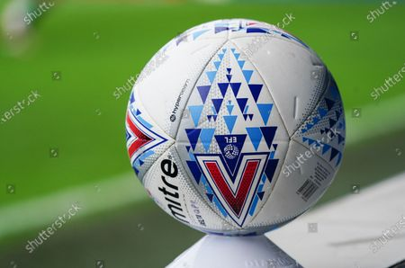 Detail of the Mitre match ball