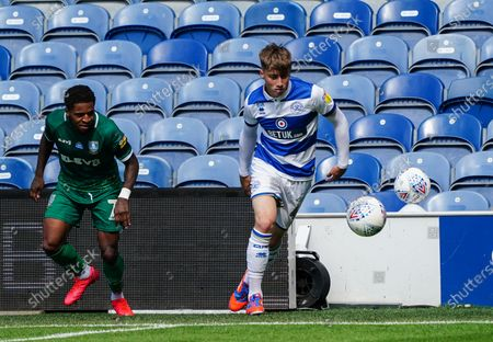 Jack Clarke of QPR wins the ball off Kadeem Harris of Sheffield Wednesday