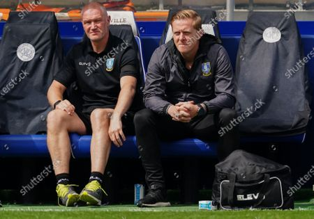 Sheffield Wednesday Manager Garry Monk looks on