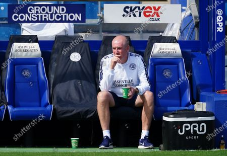 Mark Warburton Manager of QPR looks on