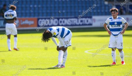 Disappointment for Eberechi Eze of QPR  & Ilias Chair of QPR  after another defeat